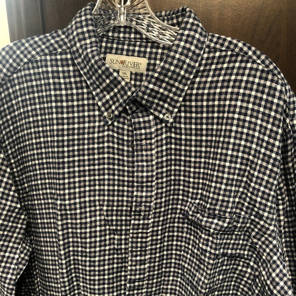 Sun River Other - Blue Checked Flannel Shirt Sun River XXL